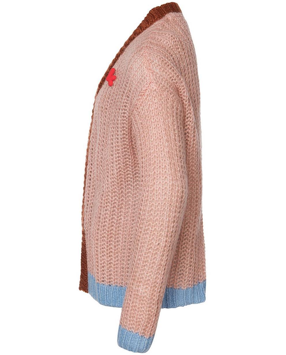 Strickjacken - Pink - Jacke aus einer luxuriösen Wollmischung
